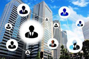 ビジネスの人脈作り、ネットワークイメージ写真