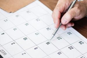 販促カレンダーのイメージ写真